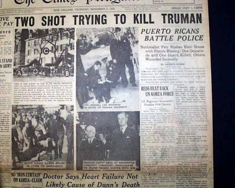 1950 Pres Truman Assassination Attempt