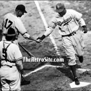 Jackie Robinson - First Home Run